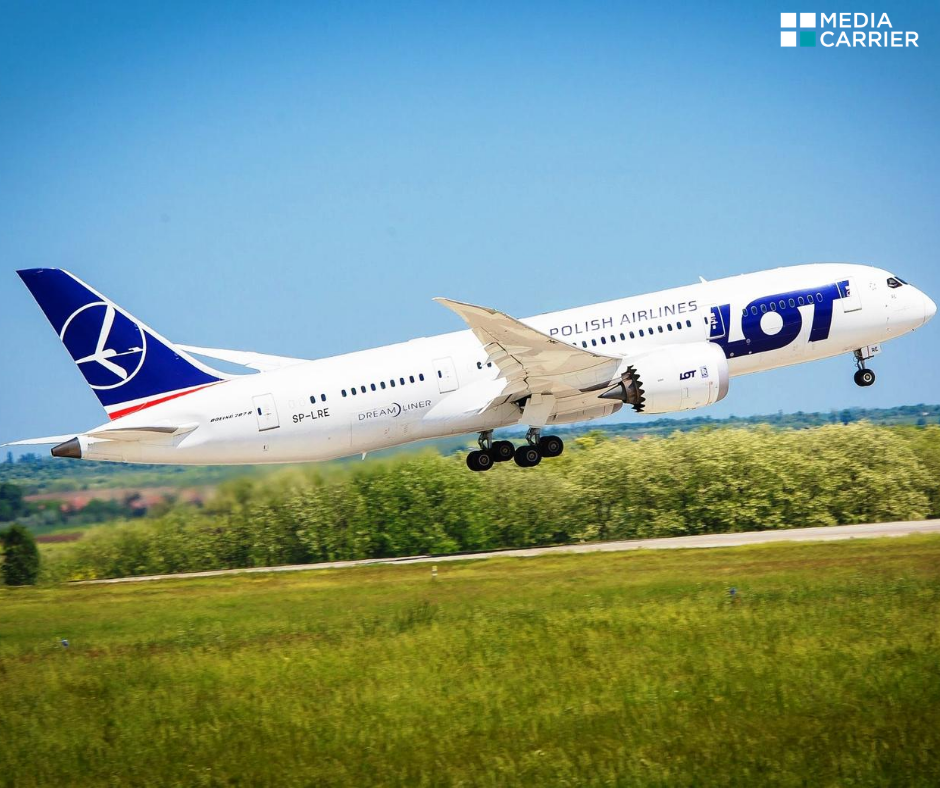 LOT Polish Airlines chooses Media Carrier's digital infotainment library